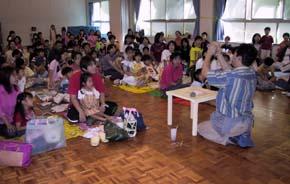 伊丹市 ロザリオ幼稚園で親子学級の陶芸
