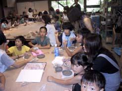 陶芸と川遊び 交野