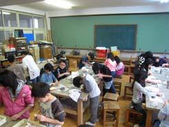 藤城小学校5年生 陶芸作品せいさく