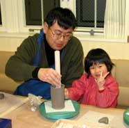 1月20日 午後の部 幼児の造形教室の体験模様