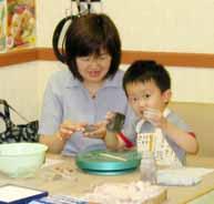 7月6日 午後の部 幼児の造形教室の模様