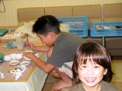 7月15日 小学生・幼児の造形教室の模様