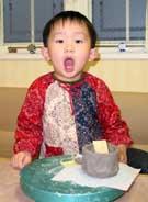 1月6日 午後の部 幼児の造形教室の体験模様