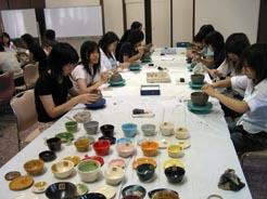 同志社女子大学茶道部で陶芸