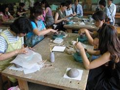 藤城小学校 PTAで陶芸