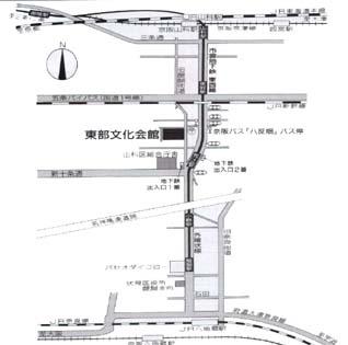 陶彩 山科教室の案内地図